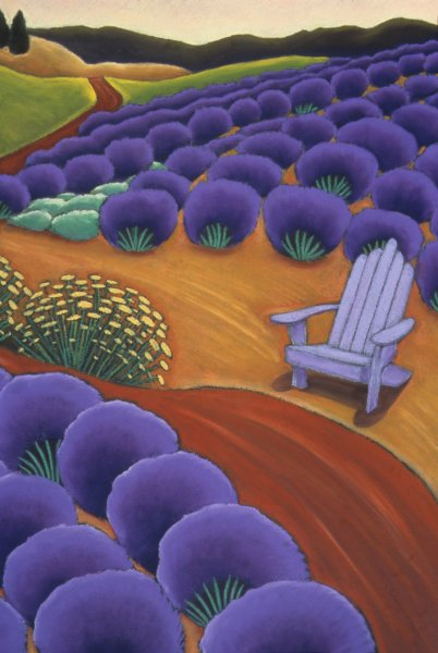 Lavender and Purple Chair