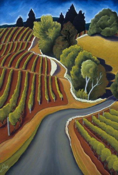 Vineyard in Autumn Light